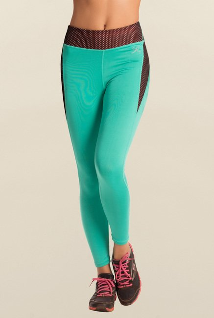 Pretty Secrets Teal Solid Workout Leggings