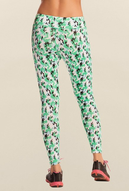 Pretty Secrets Green Camouflage Workout Leggings