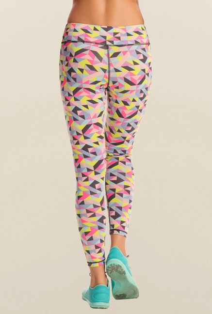Pretty Secrets Multicolor Geometric Print Leggings