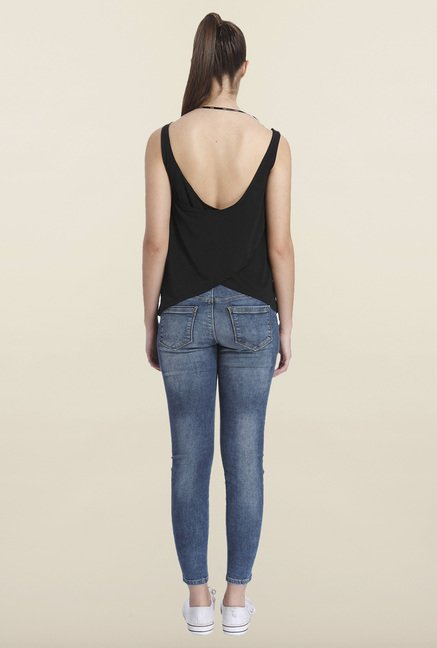 Only Black Solid Regular-fit Top