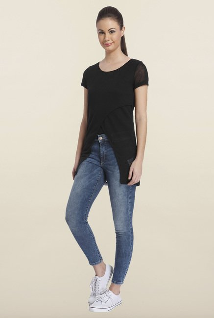 Only Black Short Sleeve Top