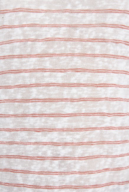 Only White Striped Top
