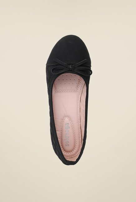 Solovoga Klucky Black Ballerina Shoes