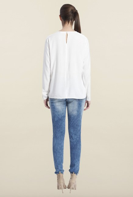 Only White Solid Regular-fit Top