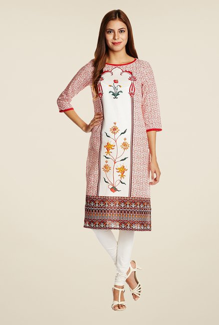 Aurelia White Cotton Kurta