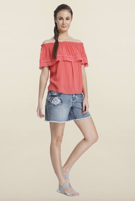 Only Coral Solid Top