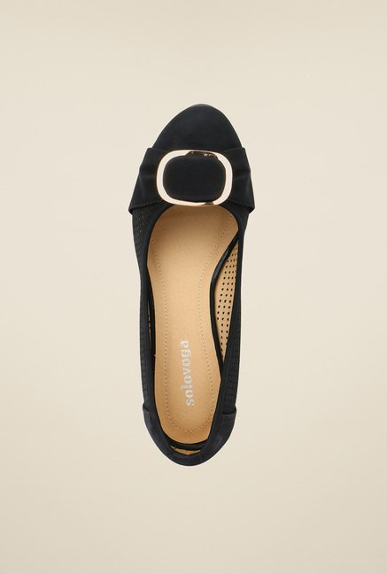 Solovoga Kwed Black Wedge Shoes