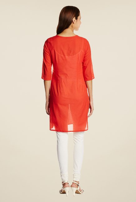 Aurelia Orange Printed Kurta