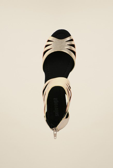 Solovoga Reflower Gold Sandals