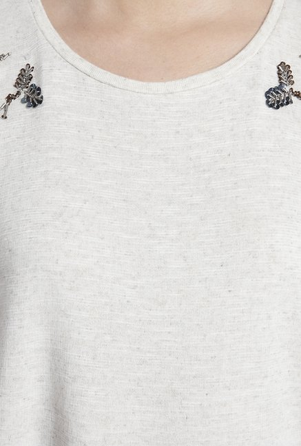 Only White Embellished Top