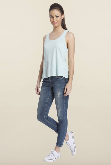 Only Light Blue Solid Tank Top