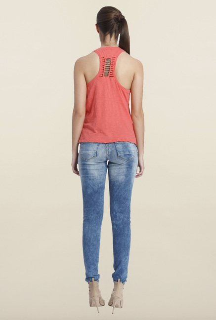 Only Coral Solid Tank Top