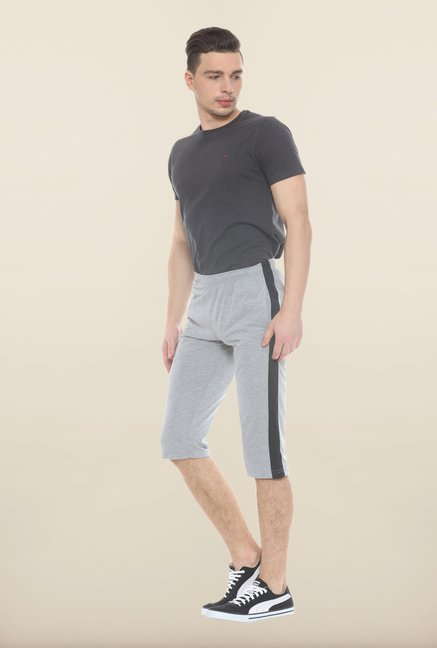 Sweet Dreams Grey Solid Cotton Jamaican Shorts