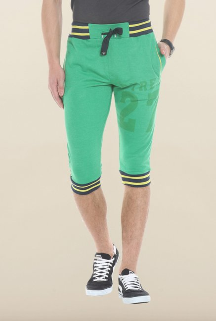 Sweet Dreams Green Solid Jamaican Shorts