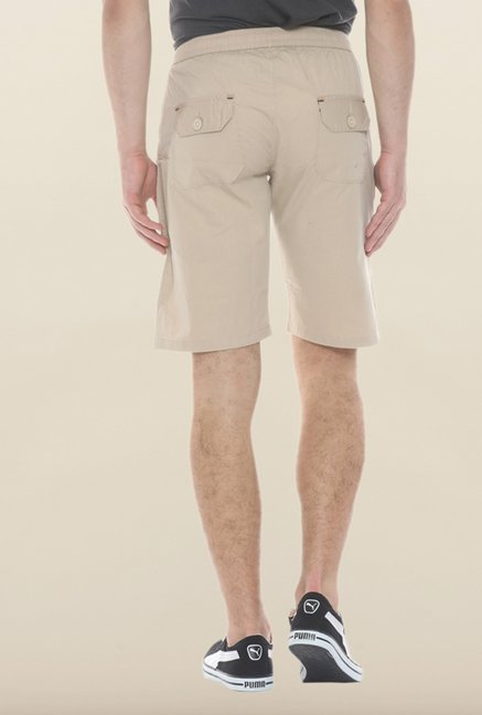 Sweet Dreams Beige Solid Jamaican Shorts