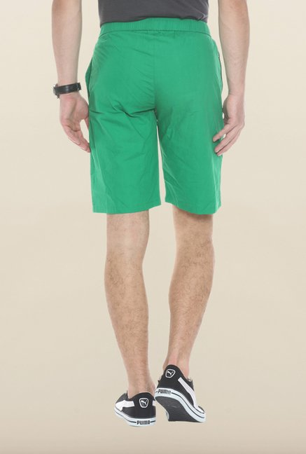 Sweet Dreams Green Cotton Jamaican Shorts