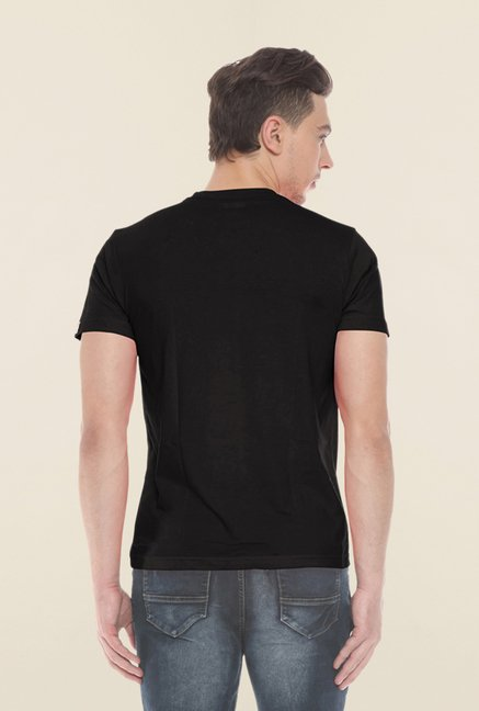 Sweet Dreams Black Solid Cotton T Shirt