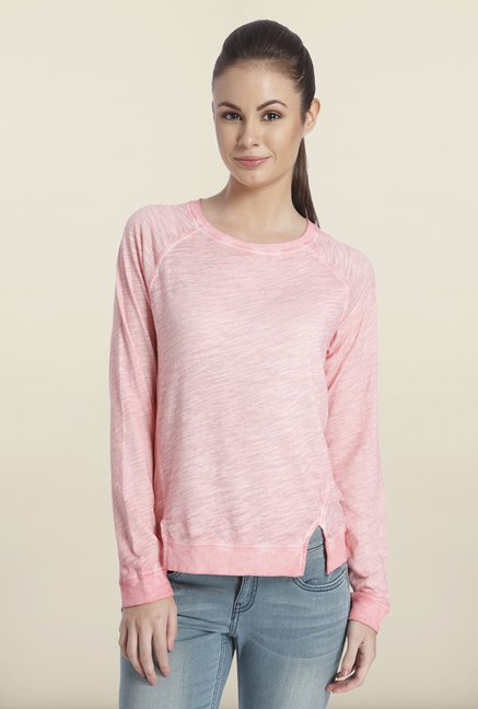 Only Light Pink Solid Cotton Top