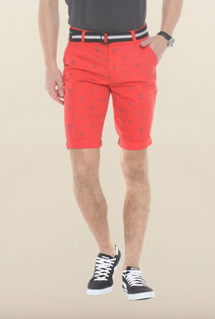 Sweet Dreams Red Printed Jamaican Shorts