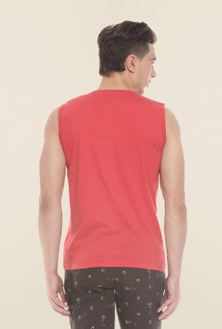 Sweet Dreams Red Printed Sando