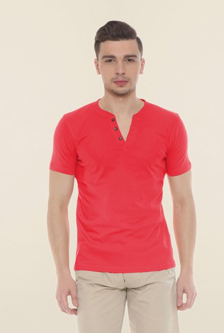 Sweet Dreams Red Solid T Shirt