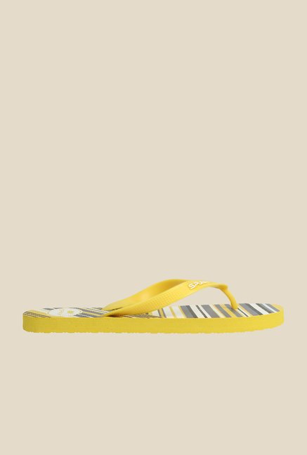 Spunk Neon Yellow & Black Slippers