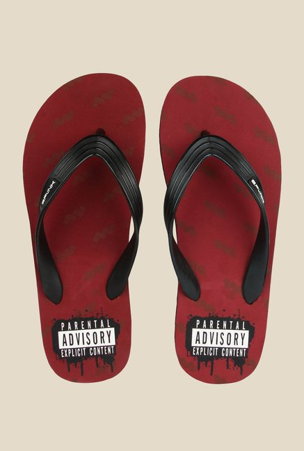 Spunk Perk Black & Red Slippers