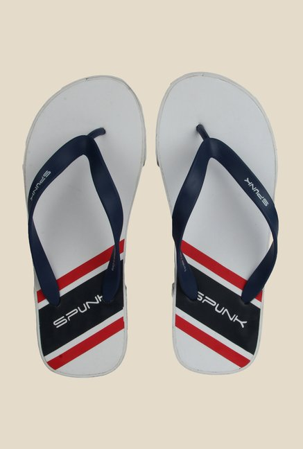 Spunk Fox Navy & White Slippers
