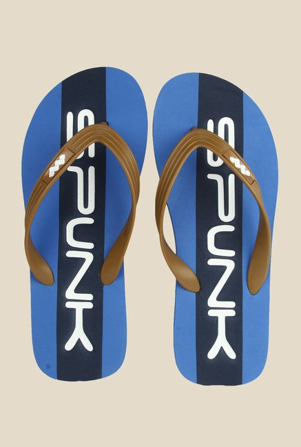 Spunk Heritage Chocolate & Navy Slippers