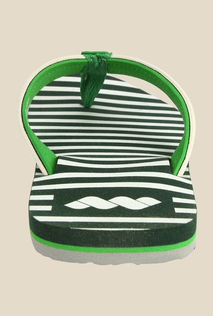 Spunk Striper Green Slippers