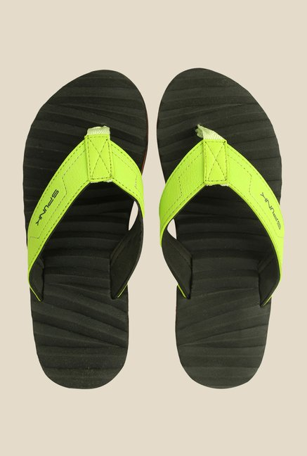 Spunk Curvy Green Slippers