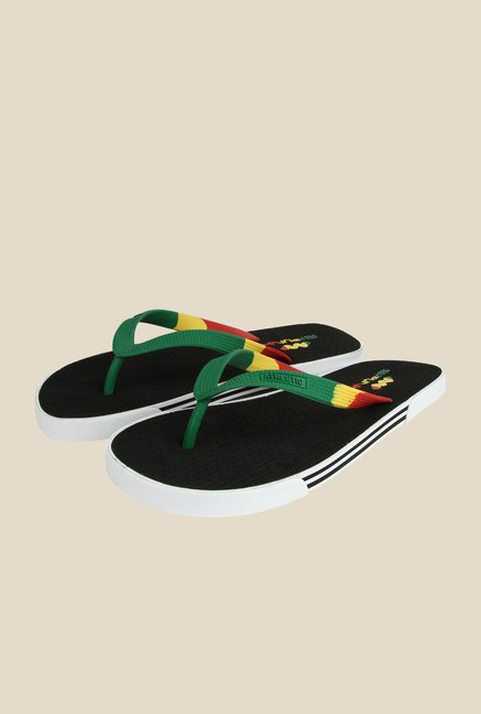 Spunk Rainbow Green & Black Slippers
