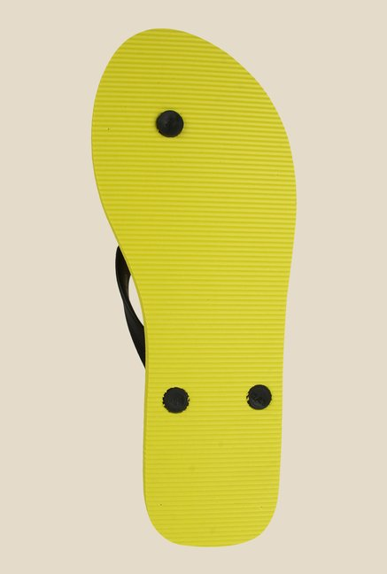 Spunk Crazy Black & Yellow Slippers