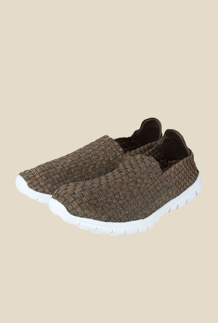 Spunk Weave Bronze & White Casual Shoes