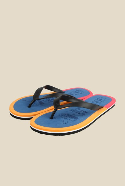Spunk Venky Black & Blue Slippers