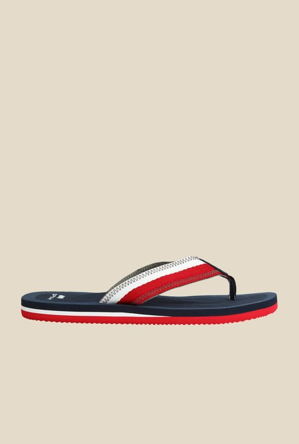 Spunk Lodgy White & Navy Slippers