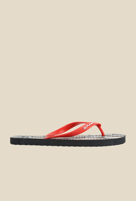 Spunk Surfy Red & Black Slippers
