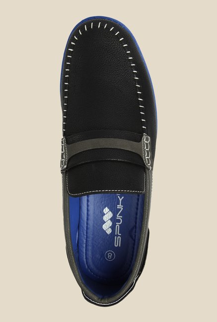 Spunk Black & Blue Casual Slip-Ons