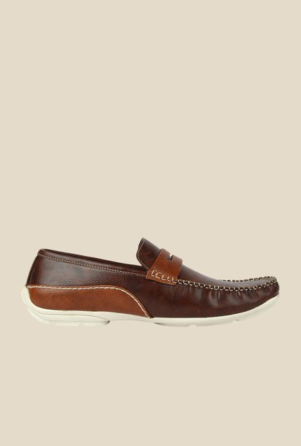 Spunk Coffee & Tan Casual Loafers