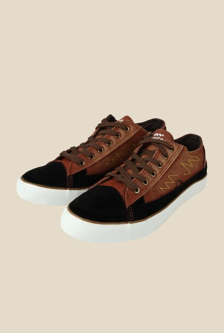 Spunk Versa Brown & Black Sneakers