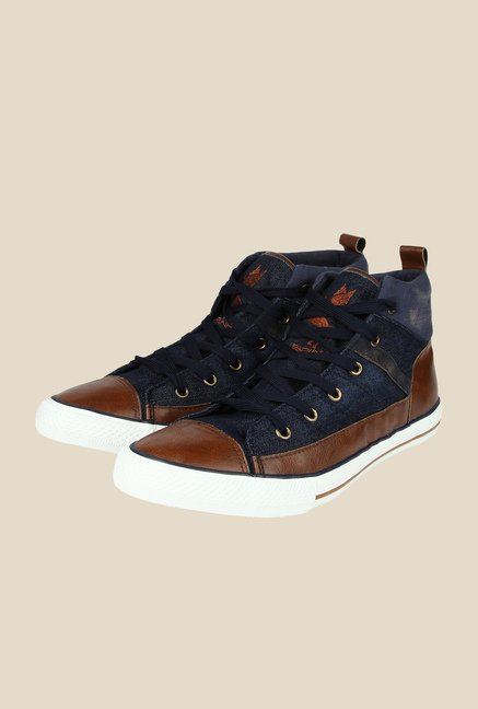 Spunk Venza Navy & Brown Sneakers