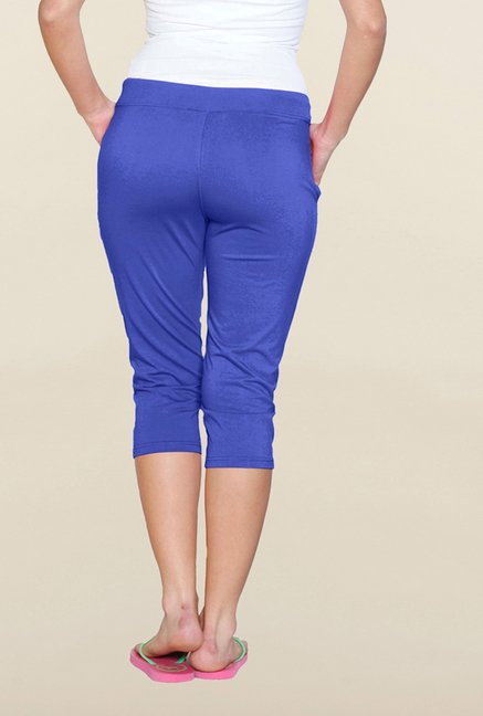 Sweet Dreams Royal Blue Solid Capri