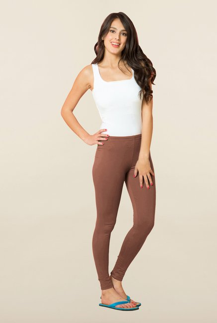 Sweet Dreams Brown Cotton Lycra Leggings