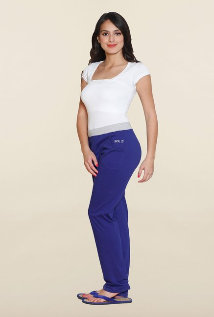 Sweet Dreams Blue Solid Track Pant