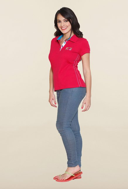 Sweet Dreams Ribbon Red Polo T Shirt