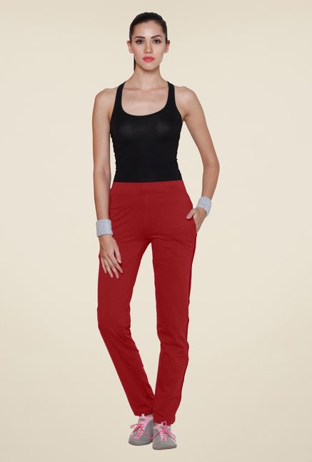 Sweet Dreams Red Solid Track Pant