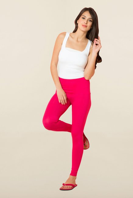 Sweet Dreams Fuchsia Solid Leggings