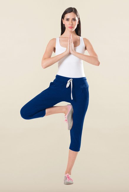 Sweet Dreams Indigo Cotton Lycra Capri