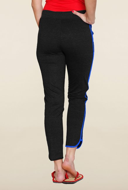 Sweet Dreams Black Solid Comfort Fit Track Pant