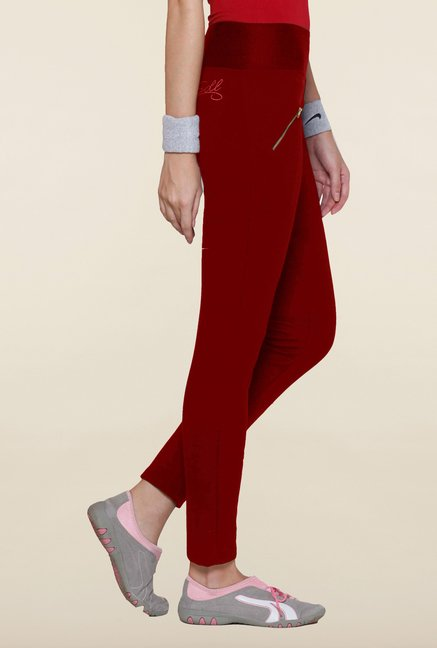 Sweet Dreams Red Solid Comfort Fit Track Pant